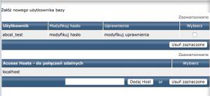 Utworzenie nowego użytkownika bazy danych.