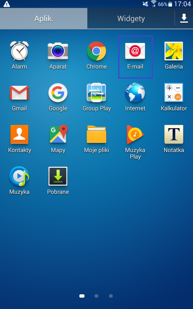 Aplikacja email na androida