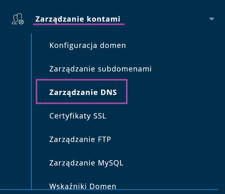 Menu Direct Admin
