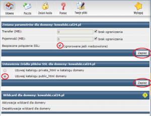 Ustawienia domeny pod certyfikat Lets Encrypt