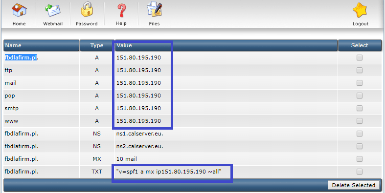 Podmienione IP