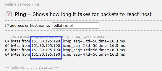 Wynik IP