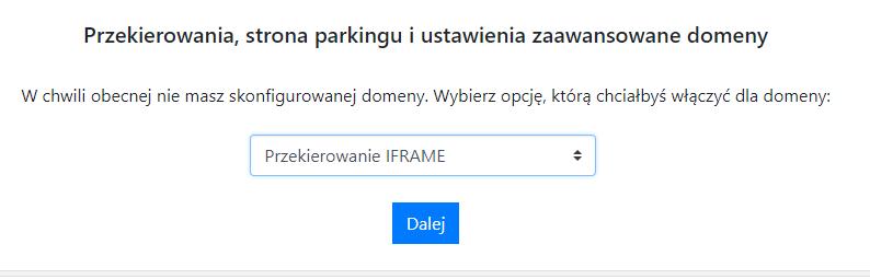 Opcja IFRAME